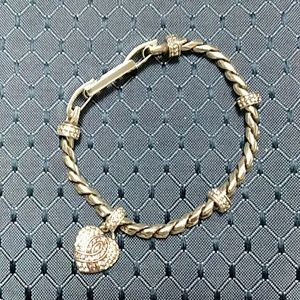 Brighton silver breast cancer charm bracelet